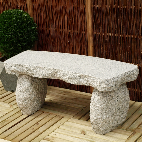 gartenbank typ e gebogen granit hellgrau. Black Bedroom Furniture Sets. Home Design Ideas