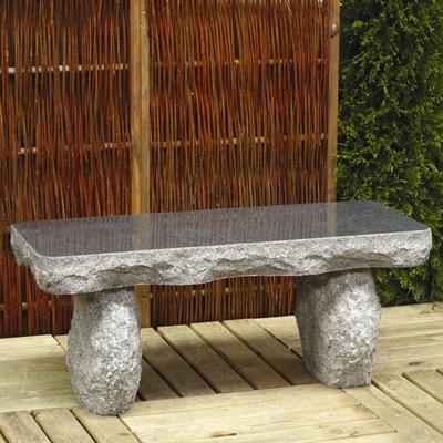 gartenbank typ e gerade granit dunkelgrau. Black Bedroom Furniture Sets. Home Design Ideas